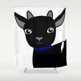 Micky the Goat Shower Curtain