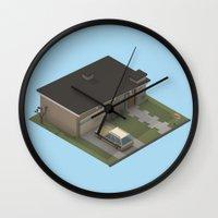 mid century modern Wall Clocks featuring Mid Century Modern Home by Michiel van den Berg