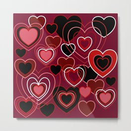 Loopy Love Metal Print