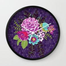 Bloomin' Beauties Violet Wall Clock