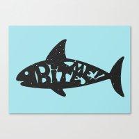 shark Canvas Prints featuring SHARK! by Dylan Morang