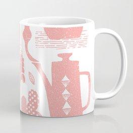 Morning ritual textured print pattern Coffee Mug