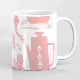 Morning ritual textured print pattern Coffee Mug