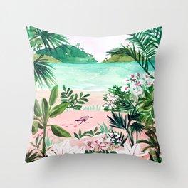 Seaside Meadow Throw Pillow
