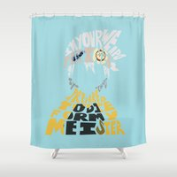 soul eater Shower Curtains featuring soul eater evans by Rebecca McGoran