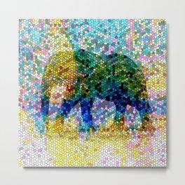 Mosaic Elephant 2 Metal Print