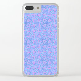 Patterns: Blue Pink Vines Clear iPhone Case