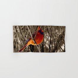Cardinal Red Bird Winter Rustic Country Art A336 Hand & Bath Towel