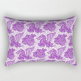 Pegasus Pattern Purple Rectangular Pillow