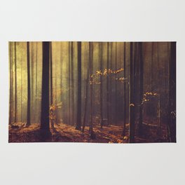 Light Hunters - Abstract orest in Sunlight Rug