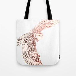 Art print: Chromatic Snowy Owl Tote Bag