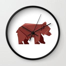 Origami Bear Wall Clock