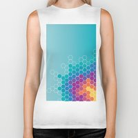 honeycomb Biker Tanks featuring Honeycomb by AleyshaKate