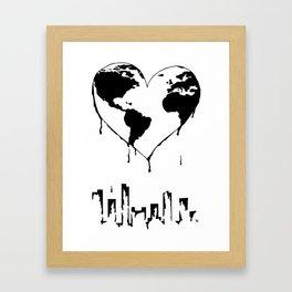 Melting Planet Framed Art Print