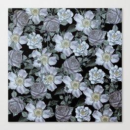 Roses at Night Canvas Print
