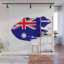 Australian Flag - Frog Wall Mural