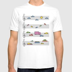 Life In Tune Mens Fitted Tee White SMALL