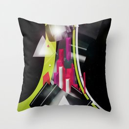 Triangles Track Throw Pillow