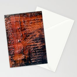 Hollow (Navy/Red Abstract) Stationery Cards