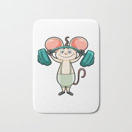 Exercise Mouse barbell Muscle Weight Lifting Bath Mat