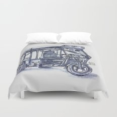 vietnam 3 wheelers Duvet Cover