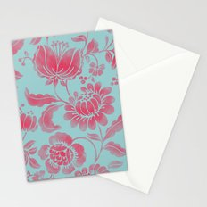 Wild Flower Red Stationery Cards
