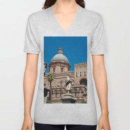 CATHEDRAL of PALERMO in SICILY Unisex V-Neck