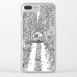Happy Camper Clear iPhone Case