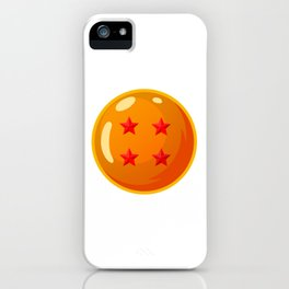 Dragonball - 4 Star Ball iPhone Case