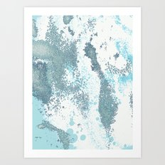 Aqua Sprawl Art Print