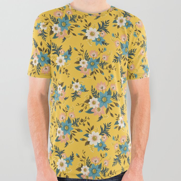 Flowers All Over Graphic Tee