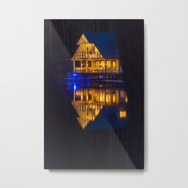 Reflections at night Metal Print