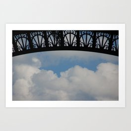 In the shade of the Eiffel Art Print