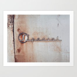 Rusted But Still Special Art Print