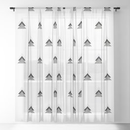 Arrows Collages Monochrome Pattern Sheer Curtain