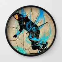 daredevil Wall Clocks featuring Daredevil #1 by PHANTOM Longboard