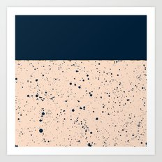 XVI - Dark Blue Art Print