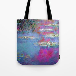 Water Lillies - Claude Monet (plastic pink) Tote Bag