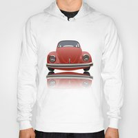 vw Hoodies featuring VW Beetle by Nove Studio
