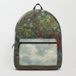 Claude Monet The Artist's Garden in Argenteuil (A Corner of the Garden with Dahlias), 1873 Backpack