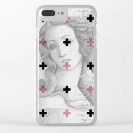 Geometric pattern x classic art Clear iPhone Case