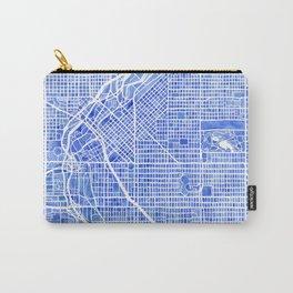 Denver Blueprint City Map Watercolor Carry-All Pouch