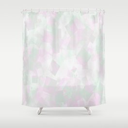 Clear Amour Snuff Mint Shower Curtain