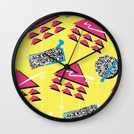 Fashion Patterns Rad, Bad and Glad Wall Clock