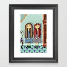 Twins Framed Art Print
