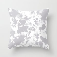 Grey - pattern painting gray and white minimal modern art large stretched canvas minimal decor Throw Pillow