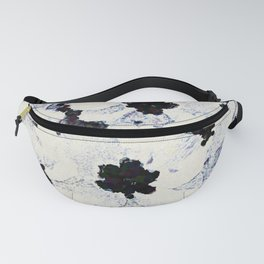 Black and White Floral with a Whisper of Color Fanny Pack