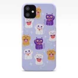 Lucky Waving Kitty Cat Maneki Neko iPhone Case