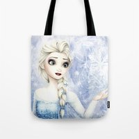 elsa Tote Bags featuring Elsa by Siney