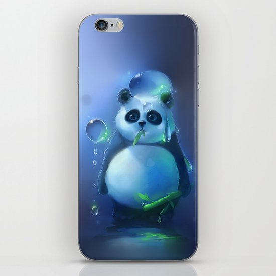 aqua panda iPhone & iPod Skin
